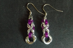 Byzantine Rose Earrings